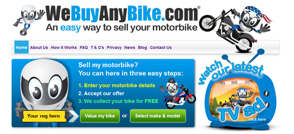 We Buy Any Bike Website
