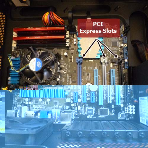 What PCI Express slots look like