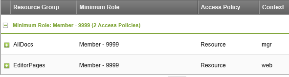 The settings you need the Resource Group Access tab for administrators